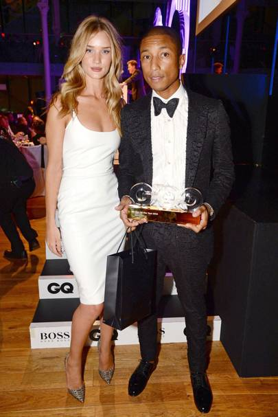 Rosie Huntington Whiteley and Pharrell Williams