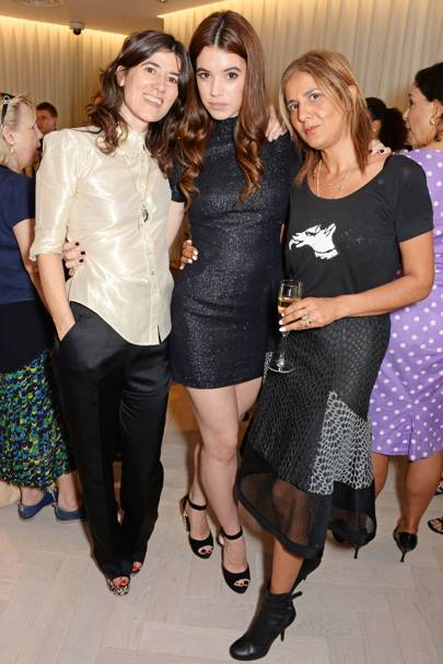 Bella Freud, Gala Gordon and Azzi Glasser