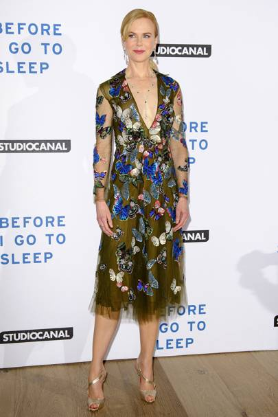 Wearing Valentino at the 'Before I Go To Sleep' film screening, 2014