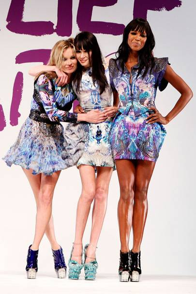Kate Moss, Annabelle Neilson and Naomi Campbell, 2010