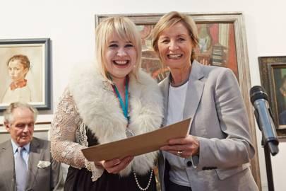 Lorna May Wadsworth and Sue Lawley