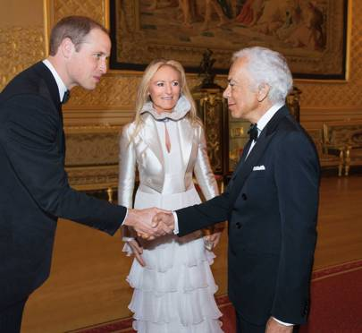 2010 - Duke of Cambridge meets Ralph and Ricky Lauren at the Royal Marsden