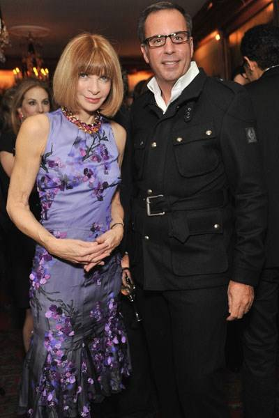 Anna Wintour and Harry Slatkin