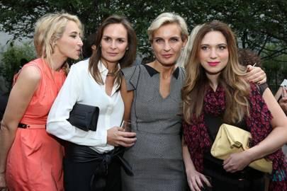Alexandra Golovanoff, Brune de Margerie, Melita Toscan du Plantier and Camille Seydoux