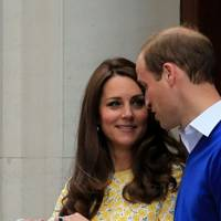 The Duke of Cambridge, the Duchess of Cambridge and Princess Charlotte