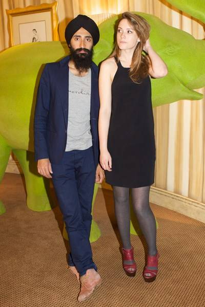 Waris Ahluwalia and Caroline Lever