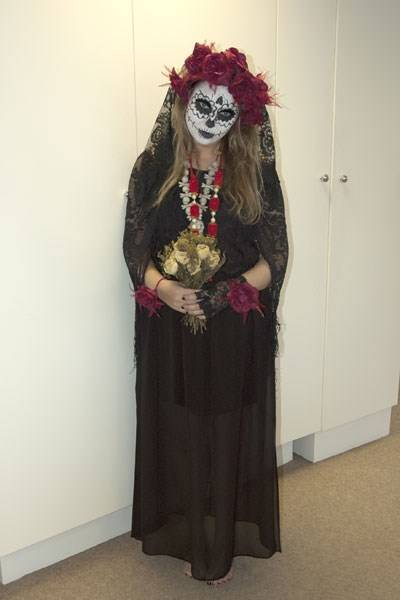 Frankie Rozwadowska as the Mexican Day of the Dead