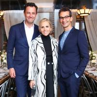 Pierre-Yves Roussel, Tory Burch and Federico Marchetti