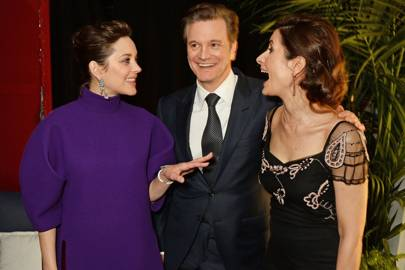 Marion Cotillard, Colin Firth and Livia Firth