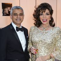 Sadiq Khan and Joan Collins