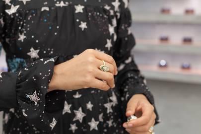 Carmen's locket ring
