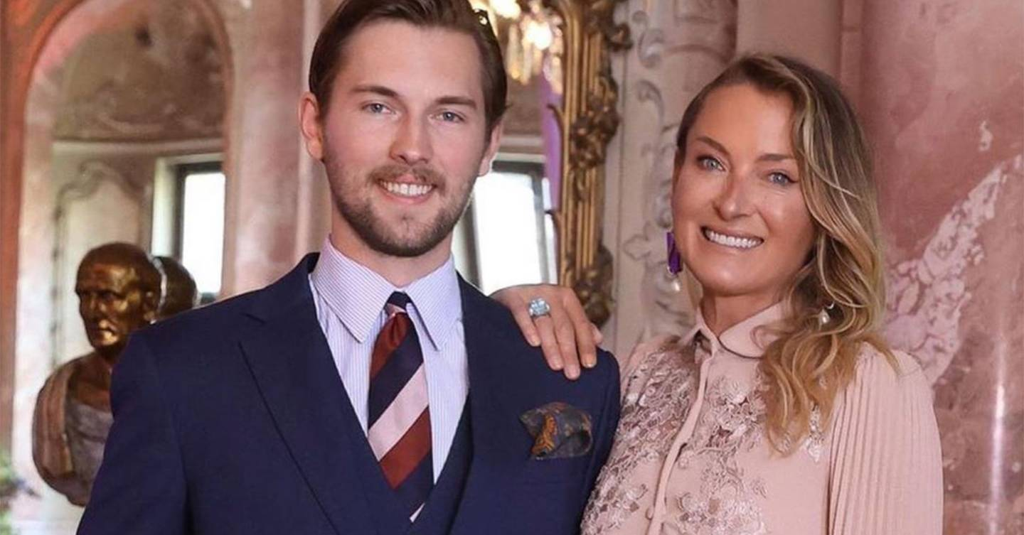 Handsome European royal Prince Heinrich Donatus attends wedding of his father