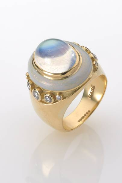 Opal and gold ring, POA, Elizabeth Gage