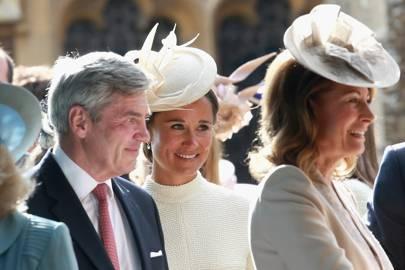 Michael Middleton, Pippa Middleton and Carole Middleton