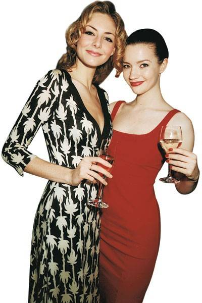 Tamsin Egerton and Talulah Riley