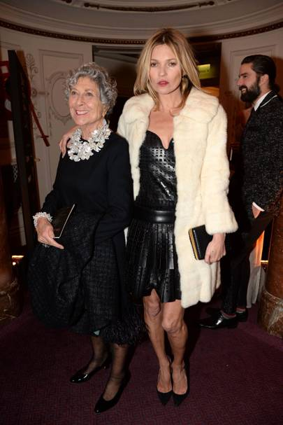 Joan Burstein and Kate Moss