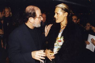 Salman Rushdie and Mrs Simon Le Bon