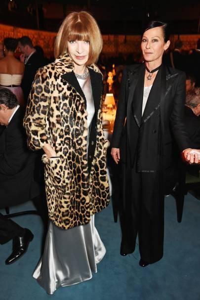 Anna Wintour and Lady Amanda Harlech