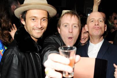 Dan Macmillan, Rhys Ifans and Paul Rowe