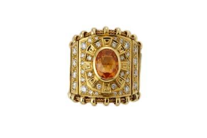 Garnet and gold cuff, POA, Elizabeth Gage