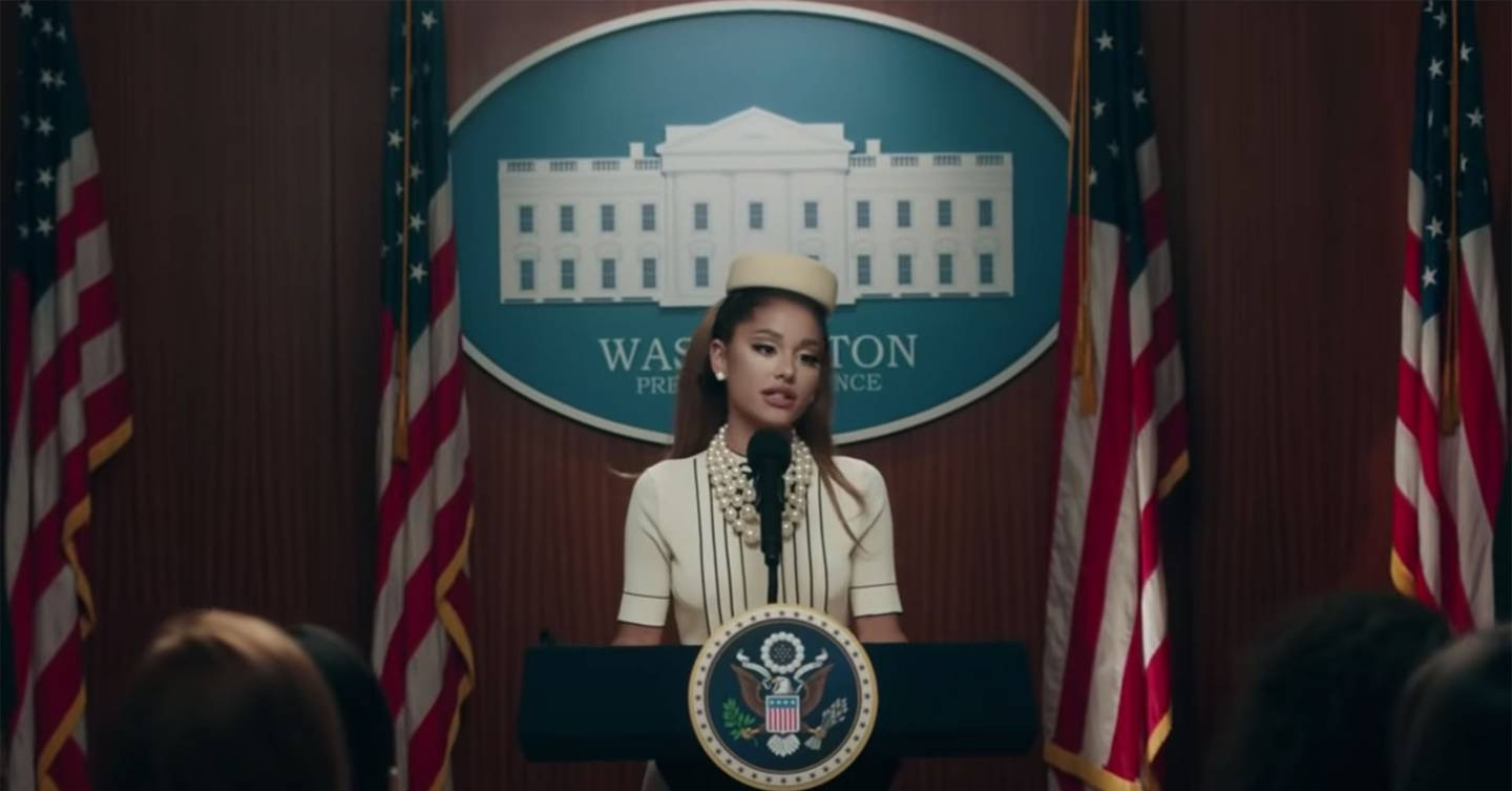 Ariana Grande channels the style of Jackie Kennedy in latest music video