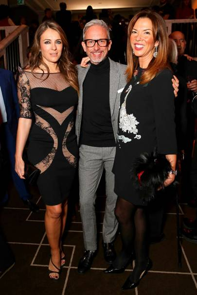 Elizabeth Hurley, Patrick Cox and Heather Kerzner