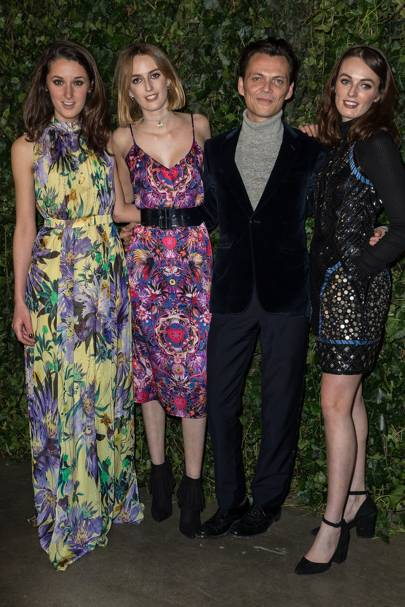 Rosanna Falconer, Lady Alice Manners, Matthew Williamson and Lady Violet Manners