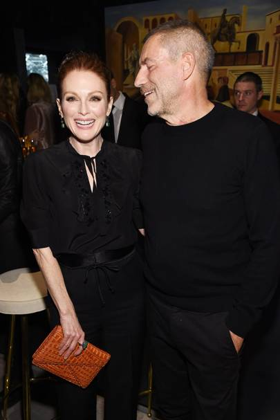 Julianne Moore and Tomas Maier