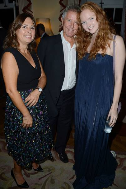 Alexandra Shulman, David Jenkins and Lily Cole