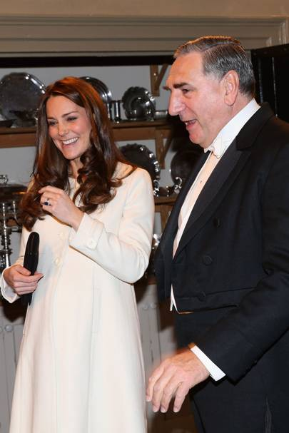 The Duchess of Cambridge and Jim Carter