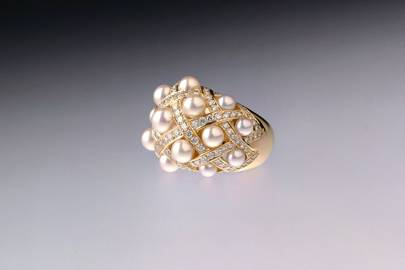 Gold, diamond & pearl ring, £7,000, by Chanel Fine Jewellery