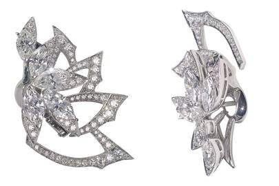 White-gold diamond earrings, £47,000, by Stephen Webster