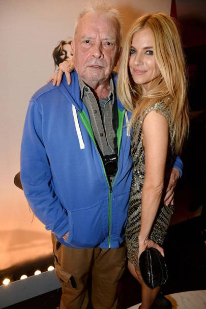 David Bailey and Sienna Miller