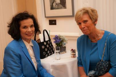 Bianca Jagger and Marliese Heimann-Ammon