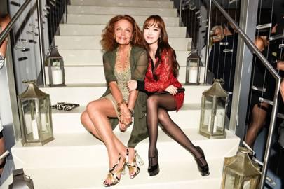 Diane von Furstenberg and Jessica Jung