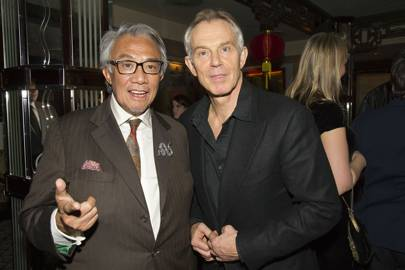 Sir David Tang and Tony Blair, 2013