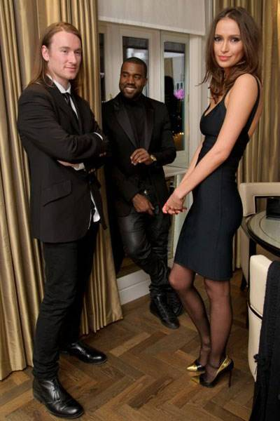 Mark Fast, Kanye West and Sasha Volkova