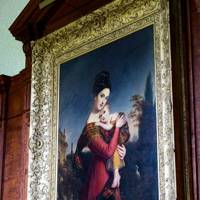 A John Patridge portrait of the 2nd Countess of Harrowby with one of her children