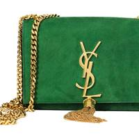 Suede bag, £1,235, by Saint Laurent by Hedi Slimane