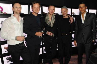 Galahad Clark (second left), Rem D Koolhaas (centre) and the United Nude team