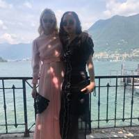 Greta Bellamacina and Marion Abramov at Phoebe Saatchi and Arthur Yates' wedding, June 2019