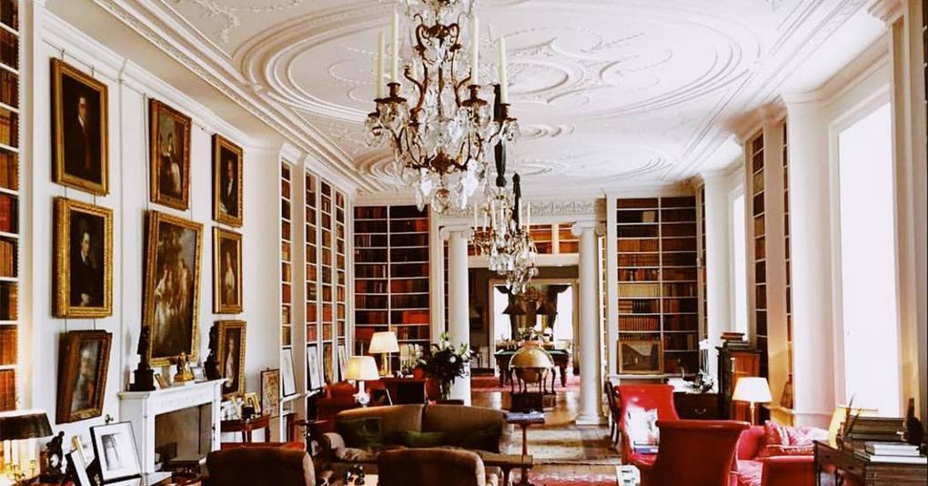 Inside Althorp's pièce de résistance, its library