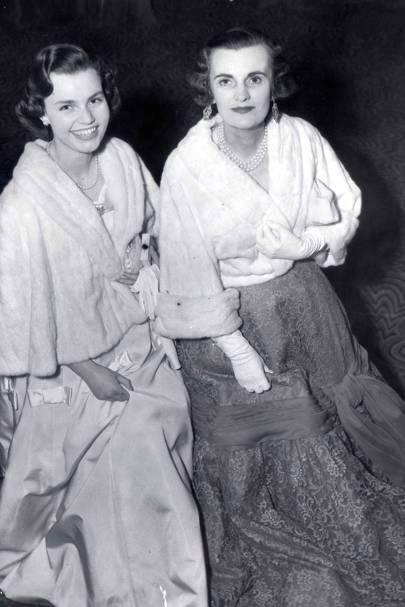 With Frances at Queen Charlotte's Ball At The Grovenor House in 1955
