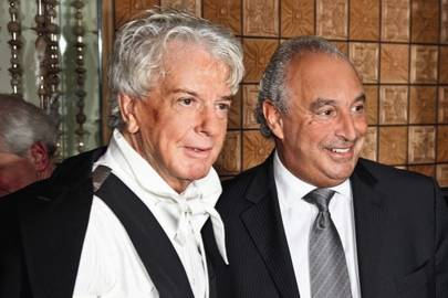 Sir Philip Green and Nicky Haslam