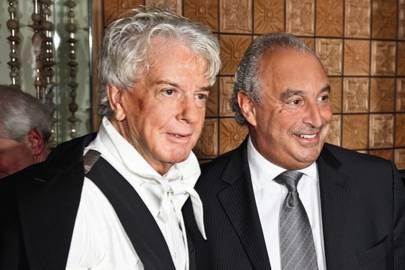 Sir Philip Green and Nicky Haslam