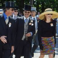 Henry Cecil, Prince Fahd Salman and Mrs Henry Cecil