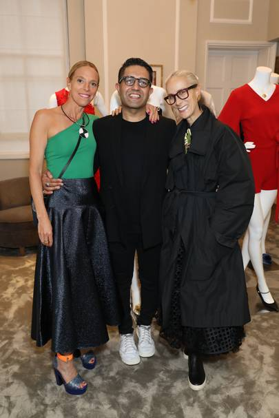 Tiphaine de Lussy,  Osman Yousefzada and Caryn Franklin