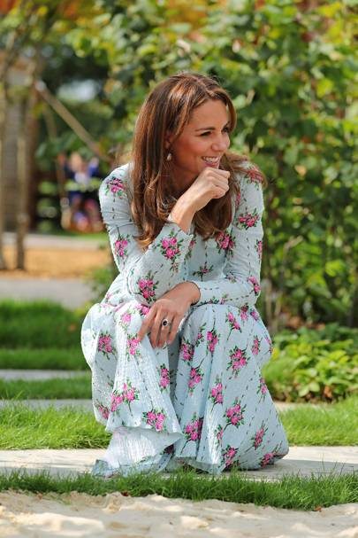 The Duchess of Cambridge is blooming in Emilia Wickstead at garden opening