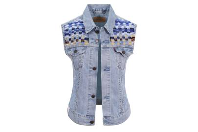 Will and Pop denim sleeveless jacket
