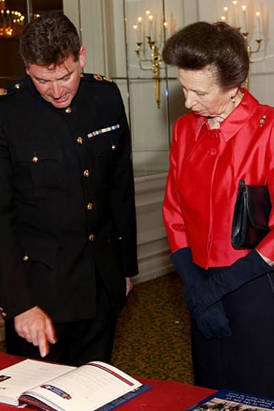 Lieutenant Colonel Dan Hughes and the Princess Royal